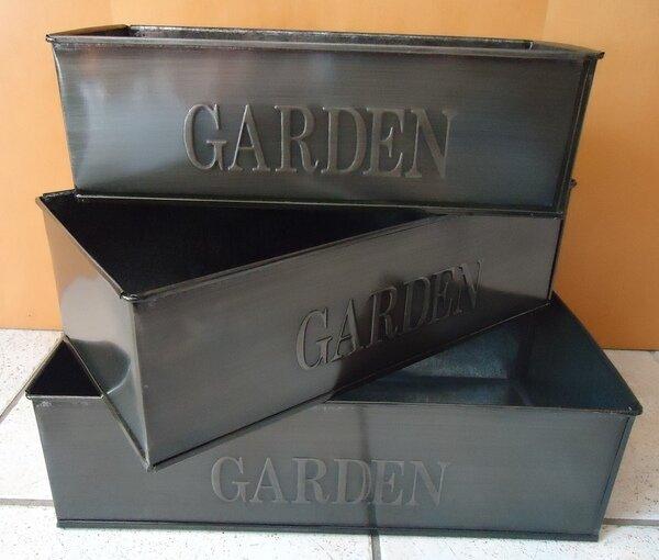 Craster Arms Rectangular Zinc Pot Planter (Set of 3) by Gracie Oaks