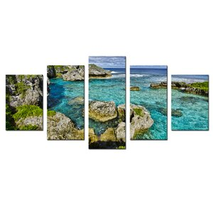 'Seaglass III' 5 Piece Photographic Print on Wrapped Canvas Set by Ebern Designs