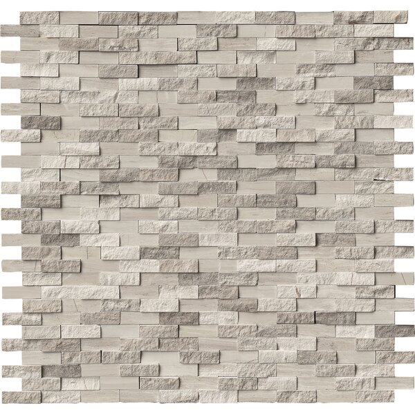 WhiteOak Split Face 0.4 x 1.2 Marble Mosaic Tile