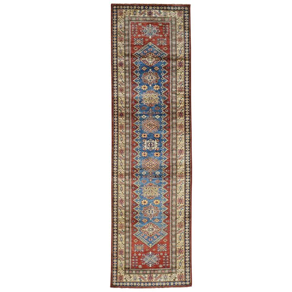 One-of-a-Kind Espada Denim Super H Hand-Knotted Blue Area Rug by Millwood Pines