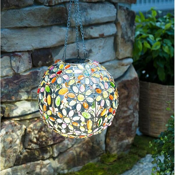 Hanging Solar Butterfly Jewel Ball Gazing Globe by Plow & Hearth
