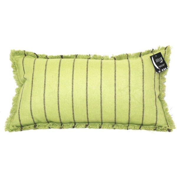 Tessier Fringe Stripe Lumbar Pillow by Latitude Run