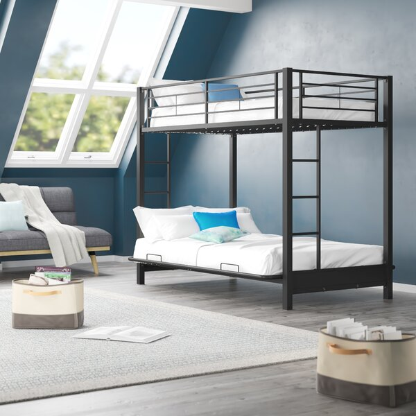 Exmore Twin Over Full Futon Bunk Bed by Harriet Bee