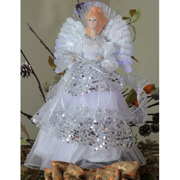 Angel Christmas Tree Topper in Sequined Gown by The Holiday Aisle