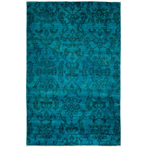 One-of-a-Kind Benjamin Hand Knotted Wool Blue Area Rug by Rosdorf Park