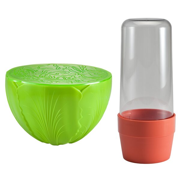 Kestner 2 Piece Herb and Salad Saver Food Storage Container Set by Symple Stuff