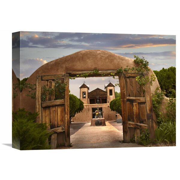 Nature Photographs Church and Gate, El Santuario De Chimayo, New Mexico by Tim Fitzharris Photographic Print on Wrapped Canvas by Global Gallery