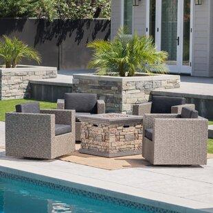 Schiller 5 Piece Conversation Set with Cushions By Latitude Run