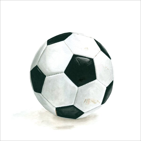 Trisha Soccer Ball Sports and Games by Jill Byers Stretched Canvas Wall Art by Harriet Bee