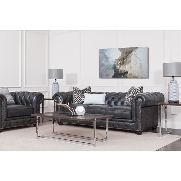 Brinson Leather Configurable Living Room Set by Three Posts