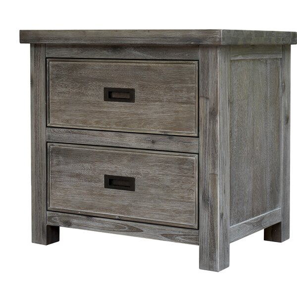 Saddle Bunch 2 Drawer Nightstand by Gracie Oaks