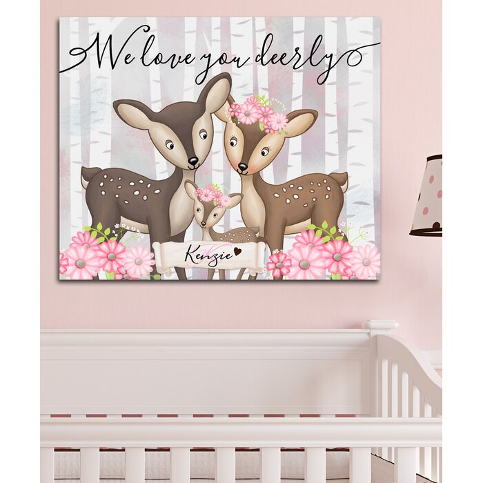 Personalized Baby Nursery We Love You Orderly Canvas Art