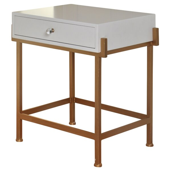 Hobgood 1 Drawer End Table with Storage by Mercer41