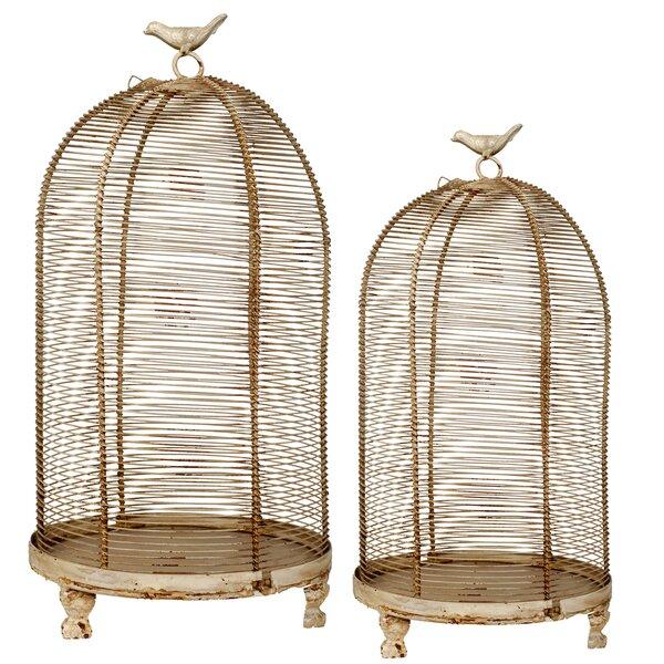 Bird Cage 2 Piece Metal Lantern Set by Ophelia & Co.