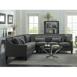 Zivah Solid L-Shaped Sectional  sc 1 st  Wayfair : c shaped sectional - Sectionals, Sofas & Couches