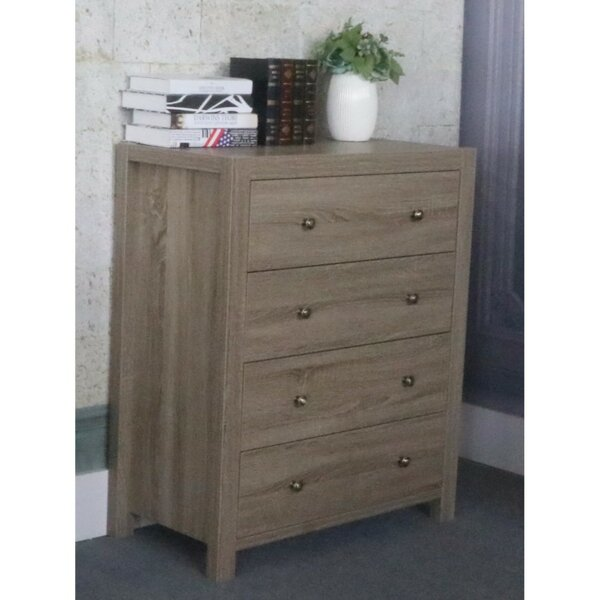 Abram Contemporary 4 Drawer Chest by Grovelane Teen