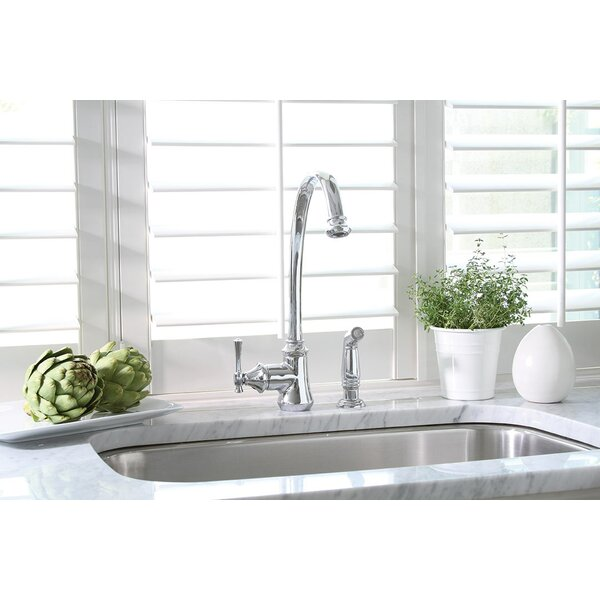 Torino Single Handle Kitchen Faucet with Side Spray by Premier Faucet