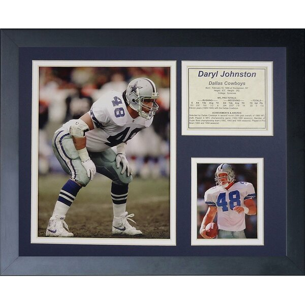 Daryl Johnston Framed Memorabilia by Legends Never Die
