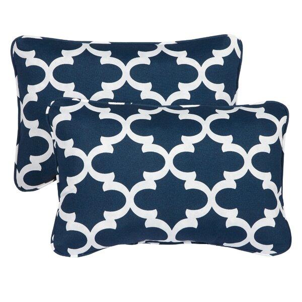 Haight Corded Outdoor Lumbar Pillow (Set of 2) by Brayden Studio