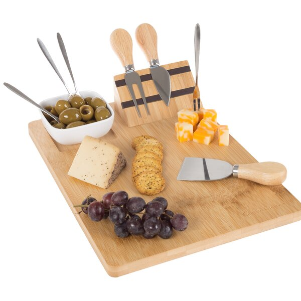 Varner 9 Piece Cheese Board and Platter Set by Fleur De Lis Living