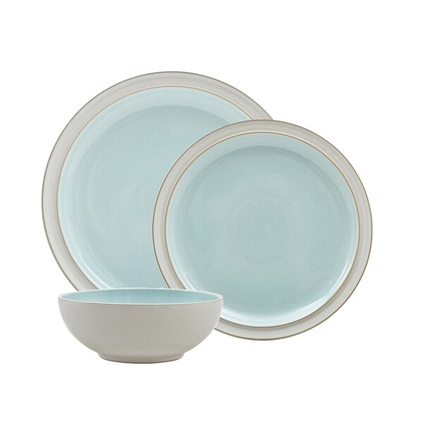 Azure Blend 3 Piece Place Setting, Service for 1 by Denby