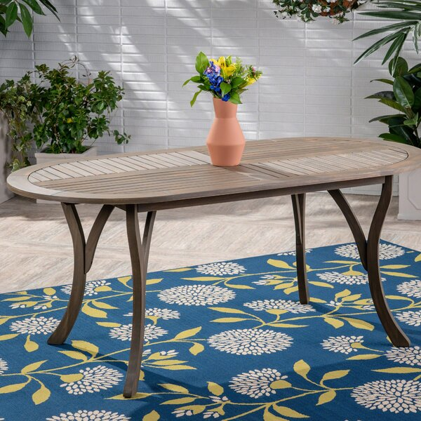 Hoehne Wooden Dining Table by Bungalow Rose
