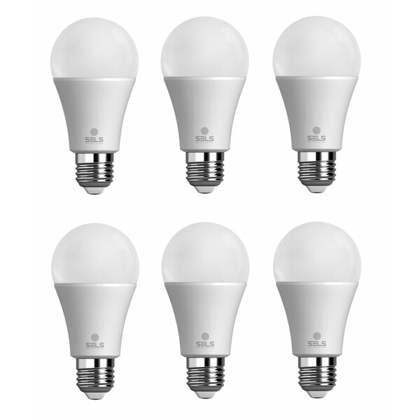 10W E26 Dimmable LED Light Bulb (Set of 6) by SELS - Smart Era Lighting Systems