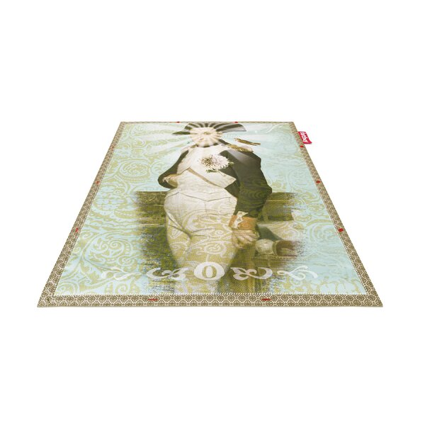 Bonaparte Non-Flying Green/Blue Indoor/Outdoor Novelty Rug by Fatboy