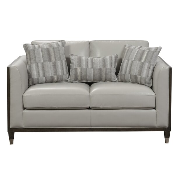 Dorlean Genuine Leather 60.24'' Loveseat By Brayden Studio