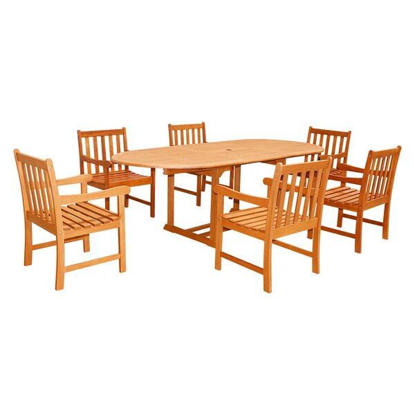 Five Piece Outdoor Dining Set with Oval Table by Vifah