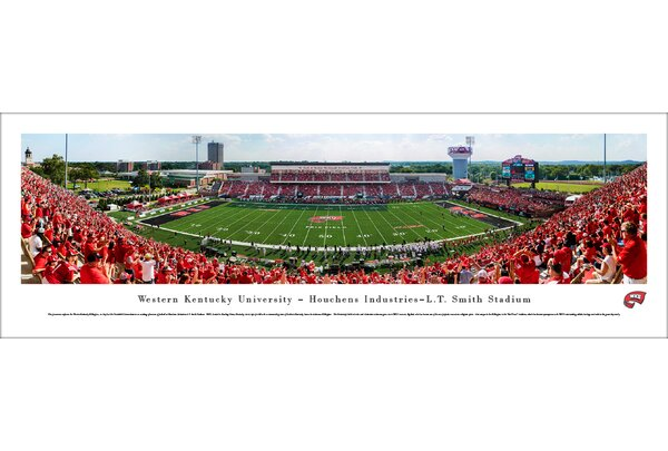 NCAA Western Kentucky Football 50 Yard Line Photographic Print by Blakeway Worldwide Panoramas, Inc