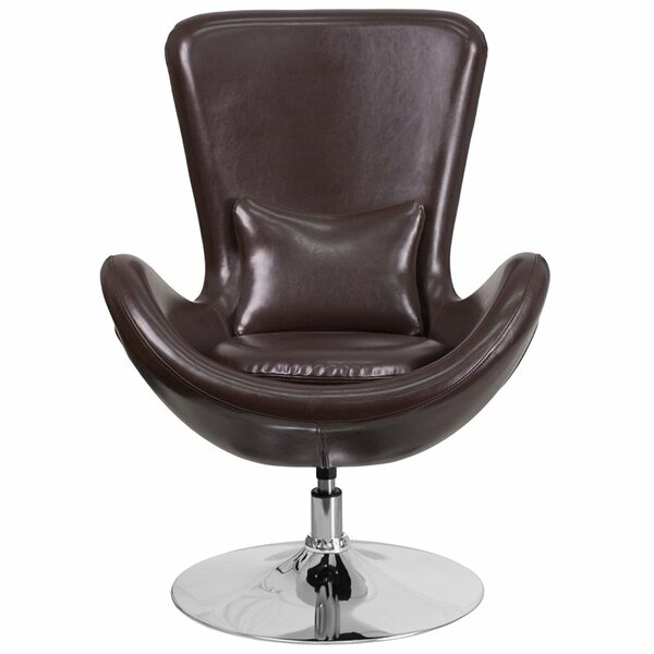Whicker Leather Lounge Chair by Orren Ellis