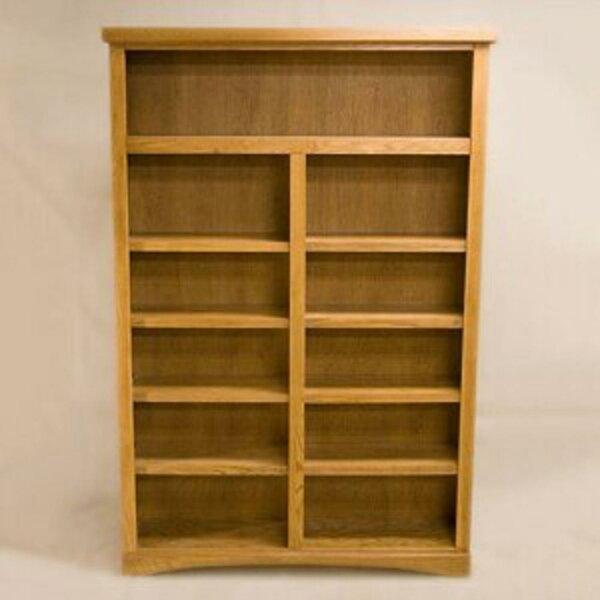 2 Shelf Traditional Standard Bookcase By BELKA