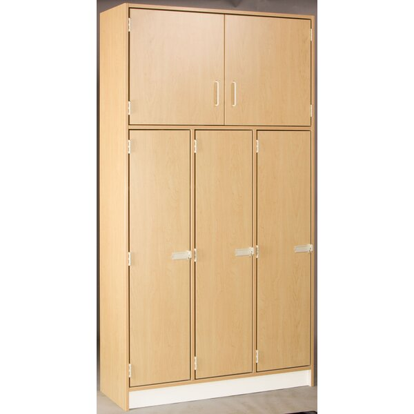 Lockers 2 Tier 3 Wide Preschool Locker by Stevens ID Systems