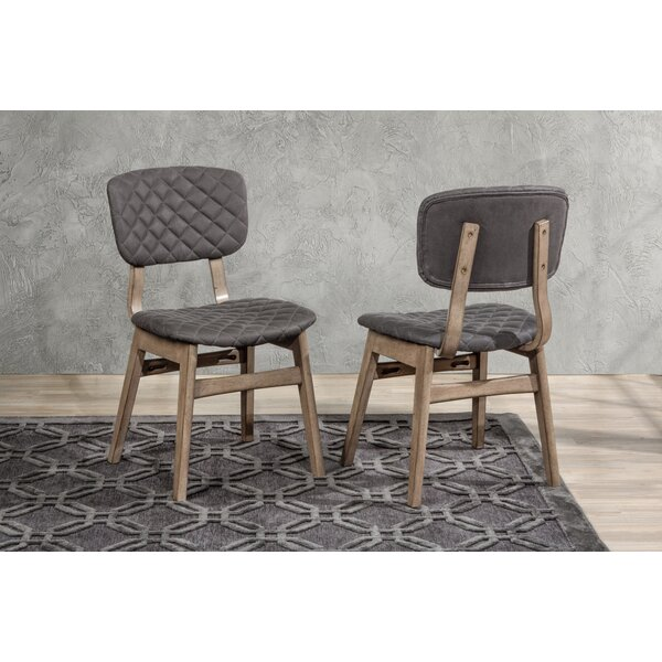 Lariat Tufted Upholstered Side Chair In Weathered Gray (Set Of 2) By Gracie Oaks