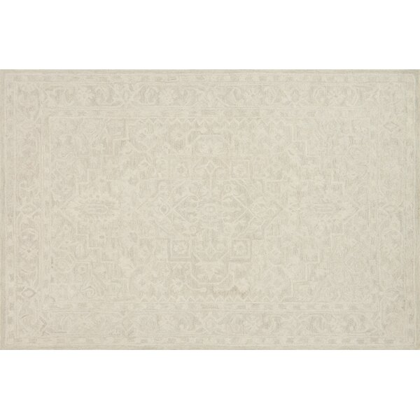 Darryl Hand-Hooked Bone Area Rug by House of Hampton