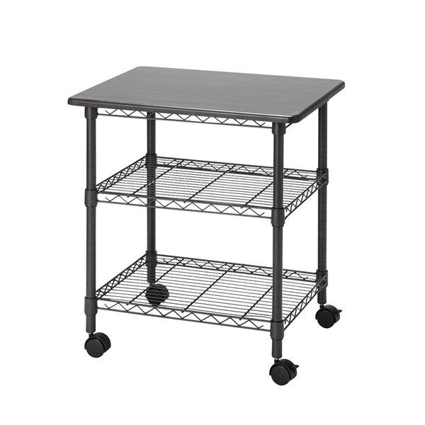 Burroughs 24 H x 20 W Desk Station Rolling Rack by Rebrilliant