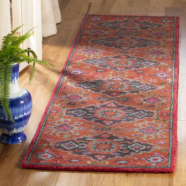 Carlsen Hand Tufted Wool Rust Area Rug by Charlton Home