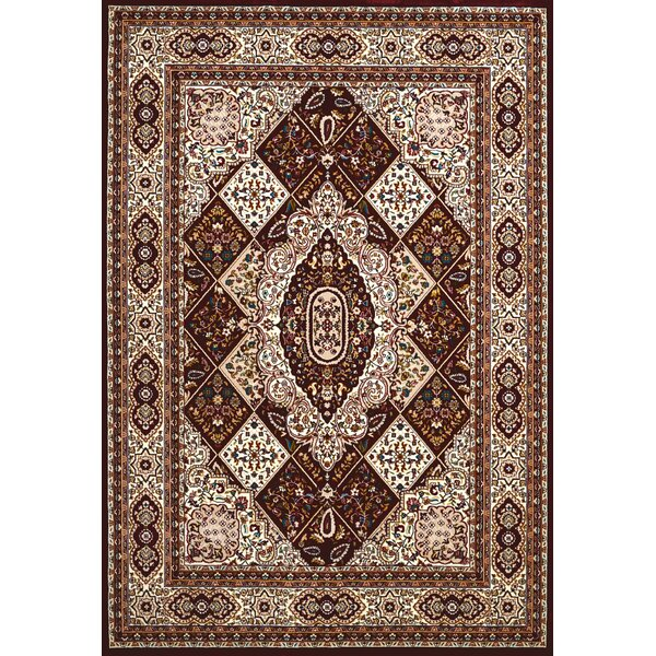 Antiquities Kirman Jewel Brown/Beige Area Rug by United Weavers of America