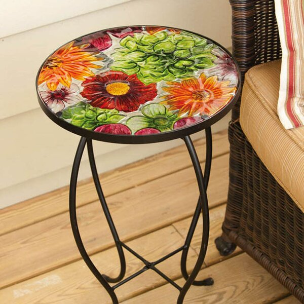 Summer Glass Side Table by Evergreen Flag & Garden