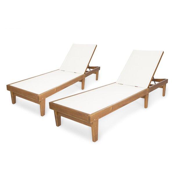Dereham Outdoor Reclining Chaise Lounge (Set of 2)