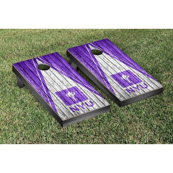EHL New York Bobcats Triangle Weathered Version Cornhole Game Set by Victory Tailgate