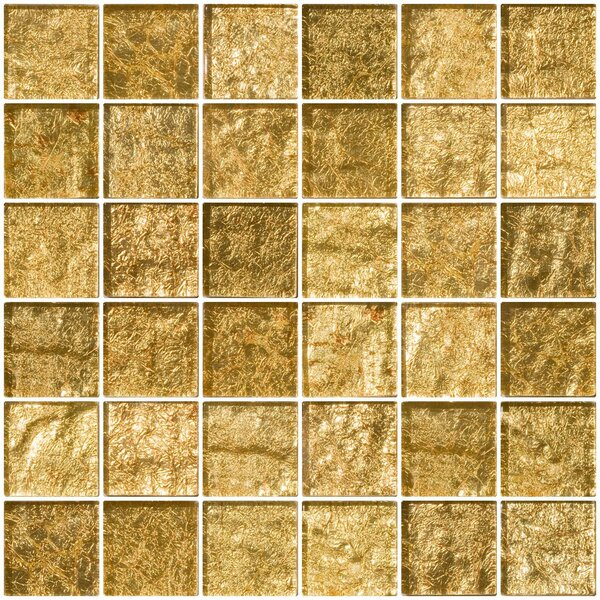 2 x 2 Glass Mosaic Tile in Champagne by Susan Jablon