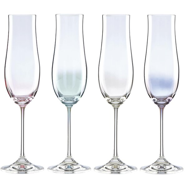 Tuscany Classics Lustre Pastel 6 oz. Champagne Flute (Set of 4) by Lenox