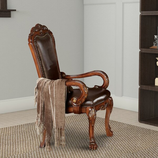 Jevon Arm Chair in Brown (Set of 2) by Astoria Grand Astoria Grand