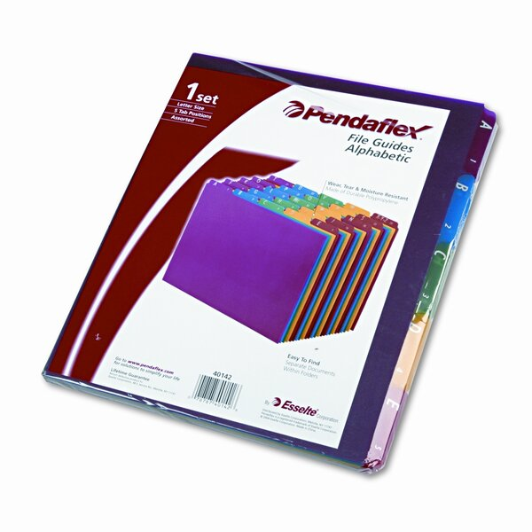 Top Tab File Guides, Alpha, 1/5 Tab, Polypropylene, Letter (Set of 25) by Esselte Pendaflex Corporation