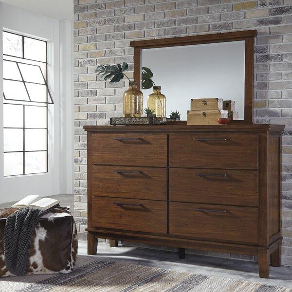 Hylan 6 Drawer Double Dresser with Mirror by Brayden Studio