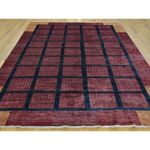 One-of-a-Kind Becker Hand-Knotted Red Wool Area Rug by Isabelline