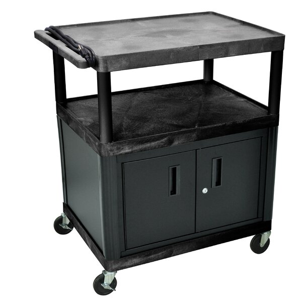 LP Carts Series AV Cart with Locking Cabinet by Lu