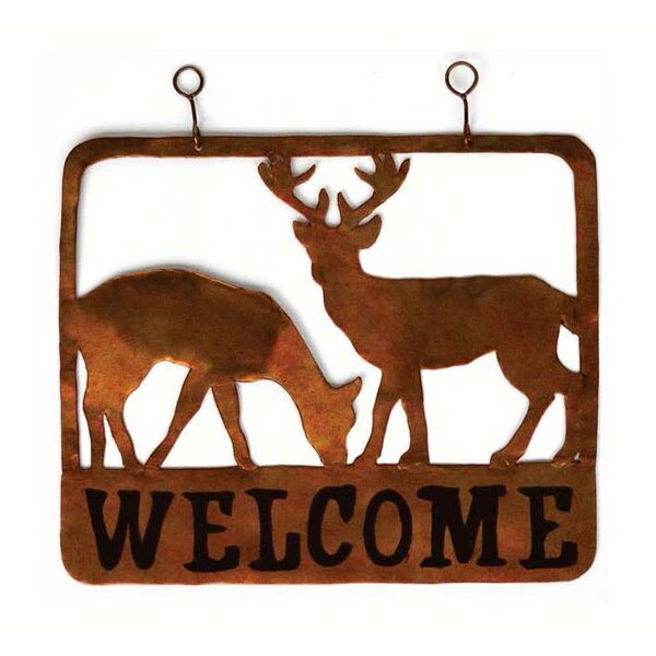 Rene Doe and Buck Welcome Sign Wall Décor by Millwood Pines